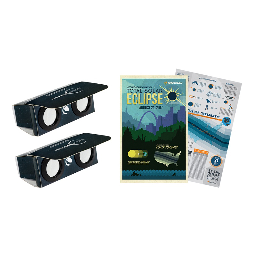 ITEM #44406 ECLIPSMART 2X POWER VIEWERS SUN AND ECLIPSE OBSERVING KIT