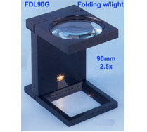 FDL90G Folding with light magnifier